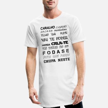 Portugal CARALHO black - T-shirt long Homme
