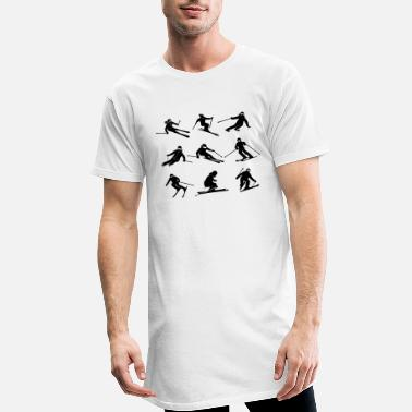 Winter sports - skier set collection - Men's Long T-Shirt