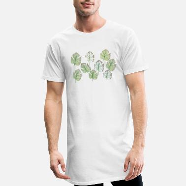 Pattern foliage pattern - Men's Long T-Shirt