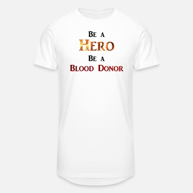Charity Be a Hero - Be a Blood Donor - Männer Longshirt