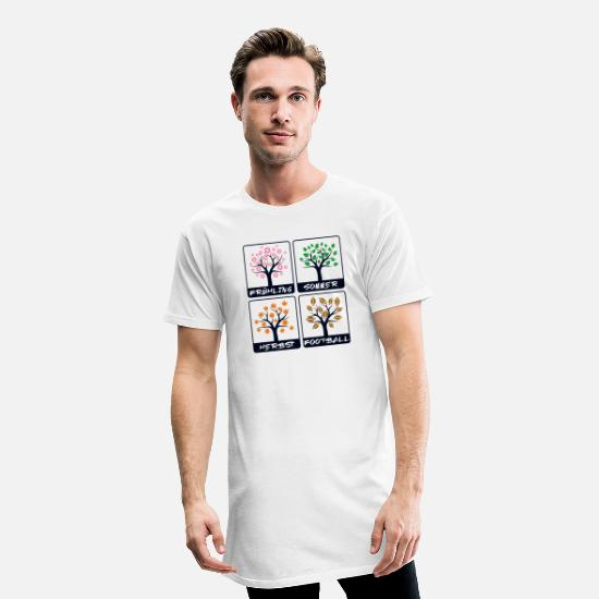 Football T-shirts - Match de saison de football américain - T-shirt long Homme blanc