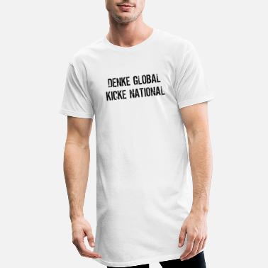 National global national - Männer Longshirt