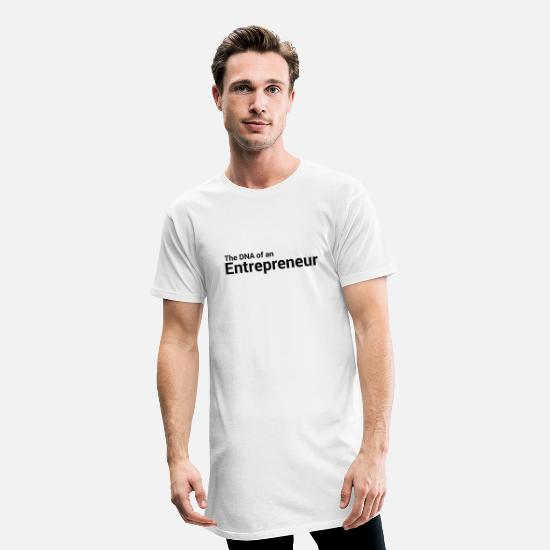 Daily T-Shirts - The DNA of an entrepreneur - Men's Long T-Shirt white
