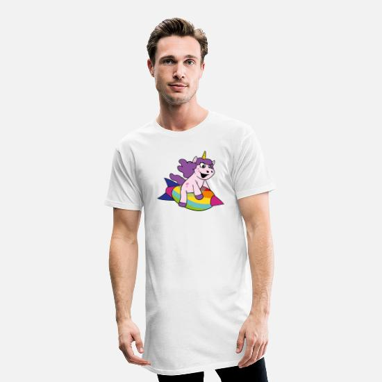 Unicorn T-shirts - unicorn - Lång T-shirt herr vit