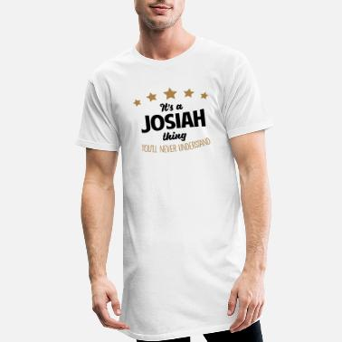 Josiah It's a josiah name thing stars never unde - Men's Long T-Shirt
