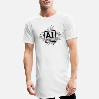 ai enslaves mankind_01 - Men's Long T-Shirt