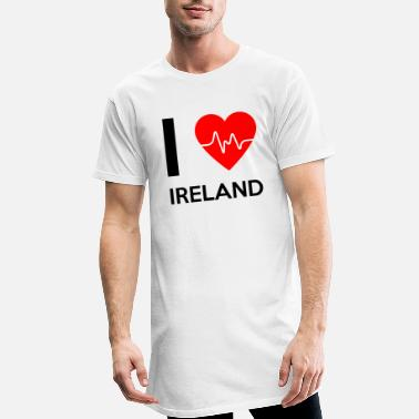 I Love Ireland I Love Ireland - I love Ireland - Men's Long T-Shirt