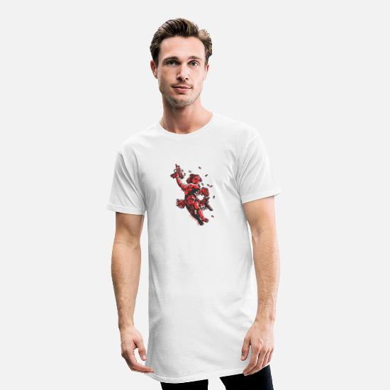 Cool T-shirts - Cupido's Arms - Mannen Longshirt wit