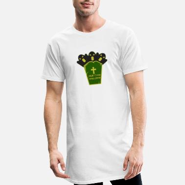 Tombe Halloween sur une tombe - Halloween avec une tombe - T-shirt long Homme