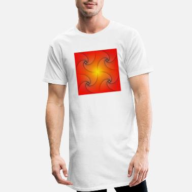 Pursuit curve in red and yellow - Men's Long T-Shirt