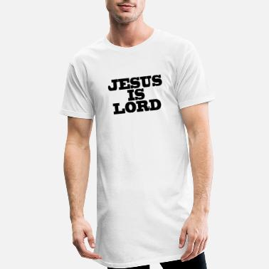 Christian Clothes Jesus is Lord Christian's clothing Gift Bible Cross - Men's Long T-Shirt