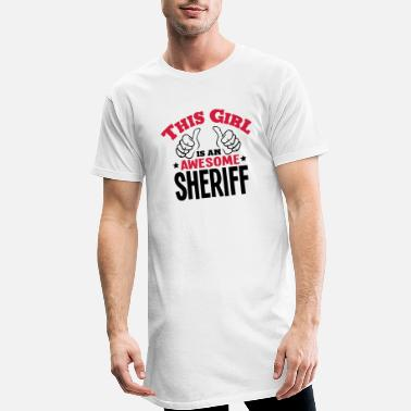 Sheriff this girl is an awesome sheriff 2col - Men's Long T-Shirt