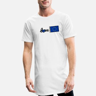 We Love Europe Love Europe - Männer Longshirt