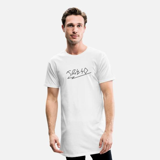 Mode T-shirts - Treso - T-shirt long Homme blanc