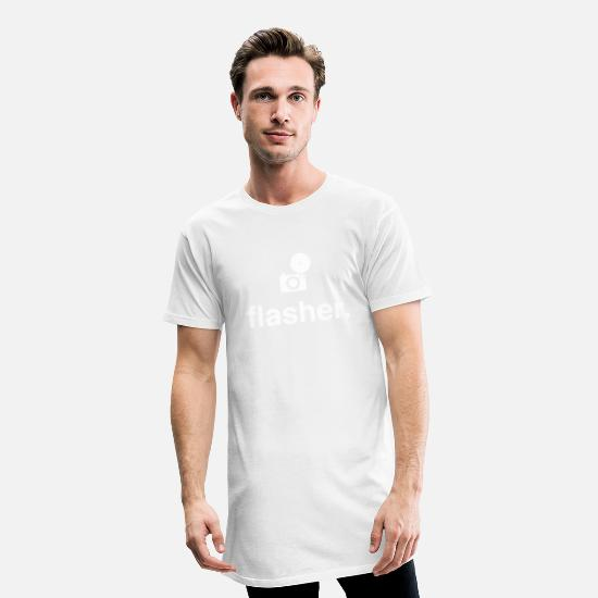 Insolent T-shirts - flasher - T-shirt long Homme blanc