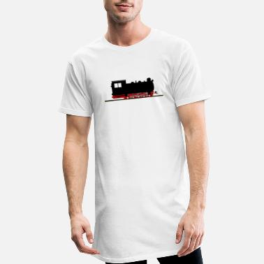 Narrow Gauge Steam locomotive narrow-gauge railway nostalgia - Men's Long T-Shirt