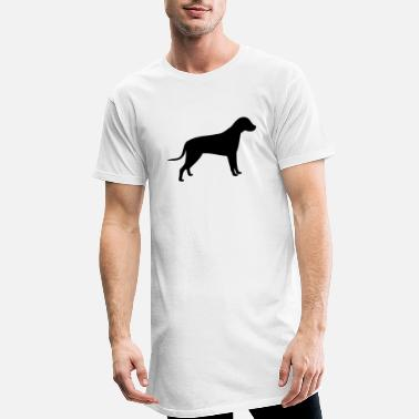 Silhouette Dog Silhouette - Men's Long T-Shirt