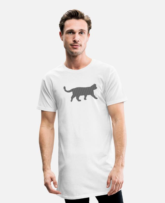 Lynx T-Shirts - cat - Men's Long T-Shirt white