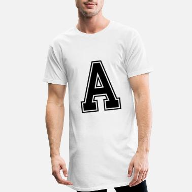 Letters Letter A - Men's Long T-Shirt