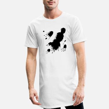 Splatter Black Paint Splats - Men's Long T-Shirt