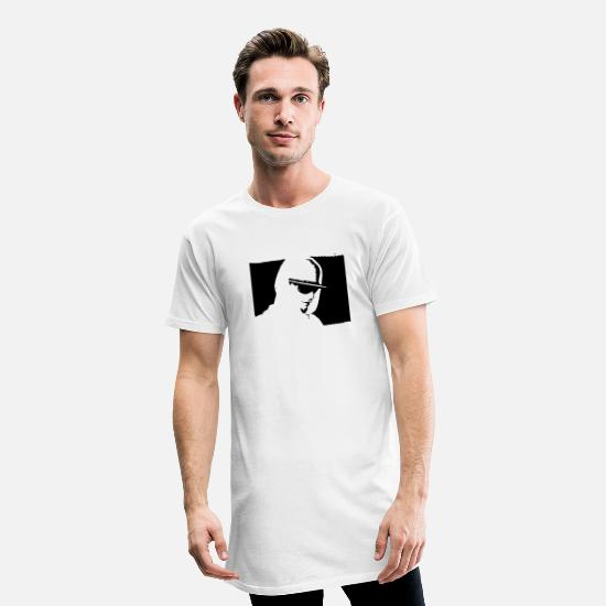 Rap T-Shirts - hip hopper with piercing - Men's Long T-Shirt white
