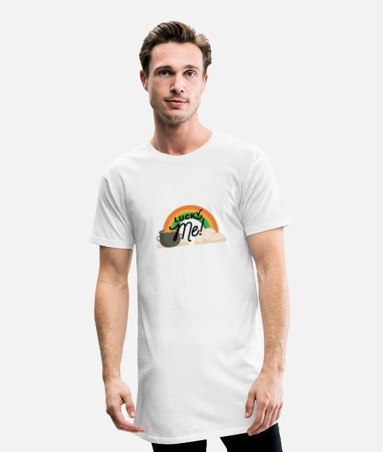 Alcohol T-Shirts - St Patricks day Lucky - Men's Long T-Shirt white
