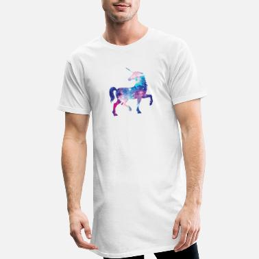 Unicorn with constellation design - Men's Long T-Shirt
