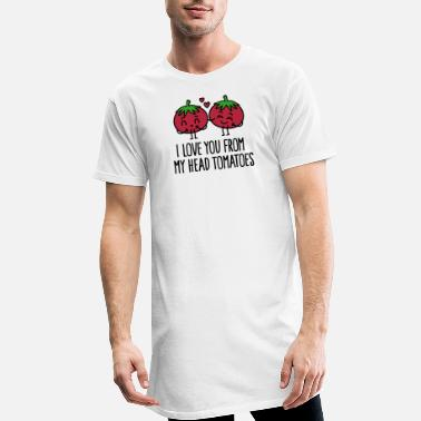 Sports I love you from my head tomatoes - Men's Long T-Shirt