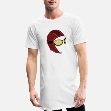 Logo Underwear Aviator White Boxer - Men's Long T-Shirt