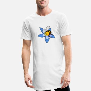 Pollinate Happy bee pollinates flower - Men's Long T-Shirt