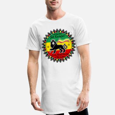 Rasta jah rastafari lion heart rasta - T-shirt long Homme