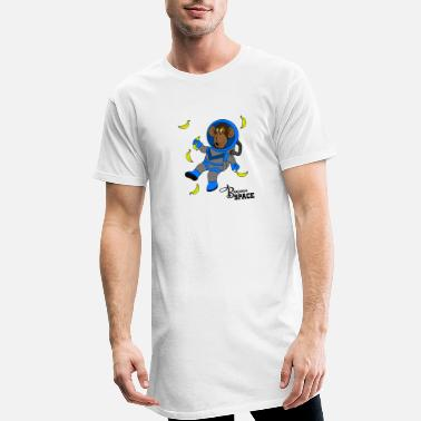 Cowboy Banana Space with monkeys Gift idea for jokers - Men's Long T-Shirt