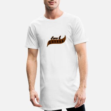 Prendre Prendre un café - prendre un café - T-shirt long Homme