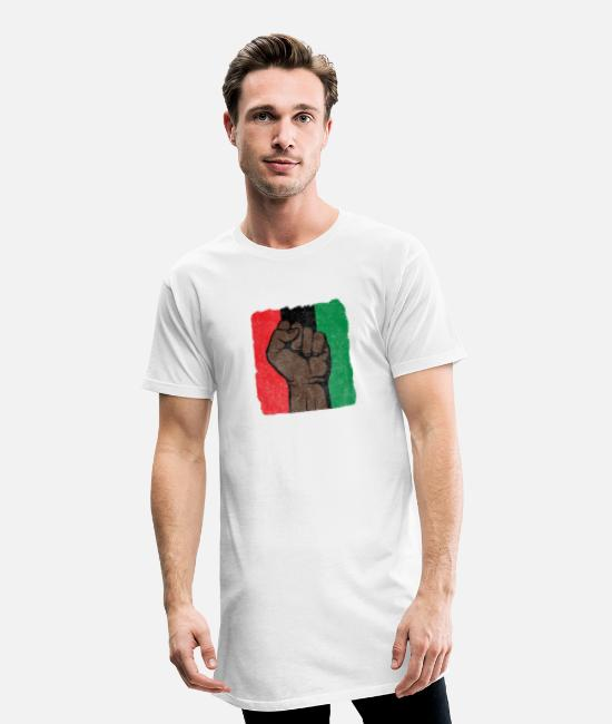 Black Power T-Shirts - Black Power First-Black History-Black Lives Matter - Men's Long T-Shirt white