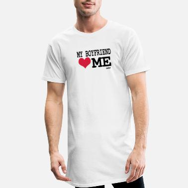 I Love My Boyfriend my boyfriend loves me by wam - Lång T-shirt herr