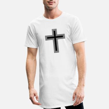 Filigran Cross - one color - Männer Longshirt