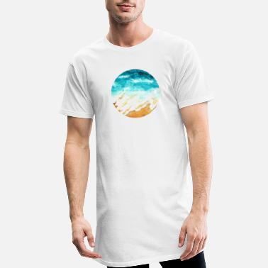Painted Sea & Beach | Acrylic Art Print | round - Men's Long T-Shirt