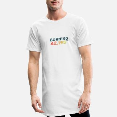 Training Burning for 42,195 - Men's Long T-Shirt