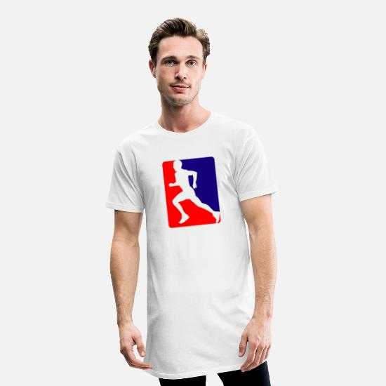 Triathleet T-shirts - triatlon rennen - Mannen Longshirt wit