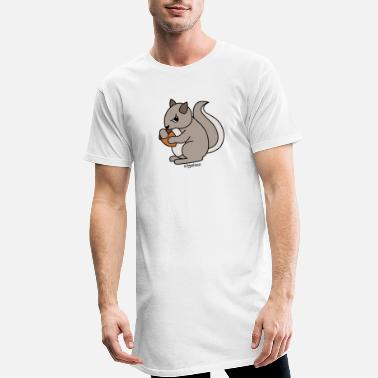 squirrel-with-acorn - Männer Longshirt