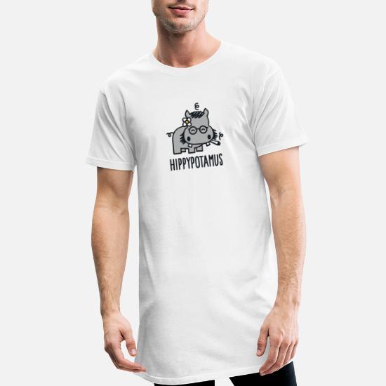 Hippypotamus Lang T skjorte for menn | Spreadshirt