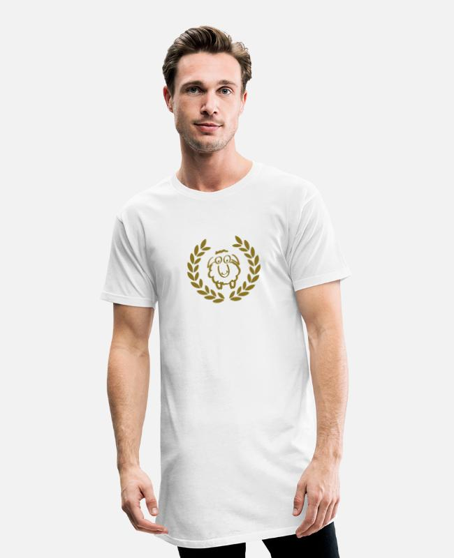 Gold T-Shirts - sheep deluxe - Men's Long T-Shirt white