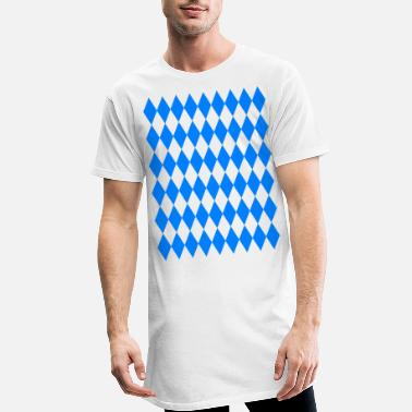 Bavarian flag Oktoberfest Bavaria flag - Men's Long T-Shirt