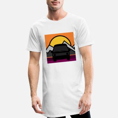 Rétro Road trip - T-shirt long Homme