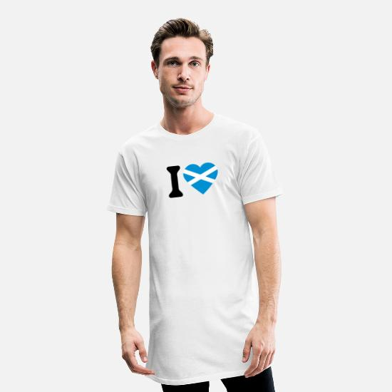 Love T-Shirts - i love Scotland_2 - Men's Long T-Shirt white