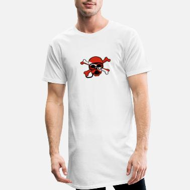 Down Skull and Crossbones Scuba Diving Dive Flag design - Men's Long T-Shirt