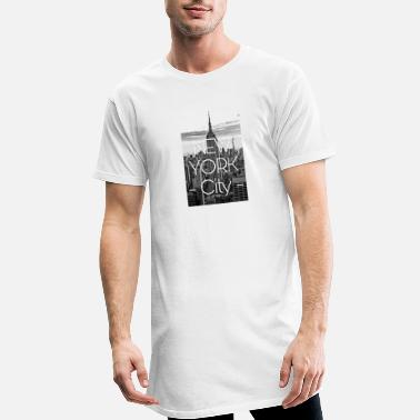 New NEW YORK CITY - Camiseta de corte largo hombre