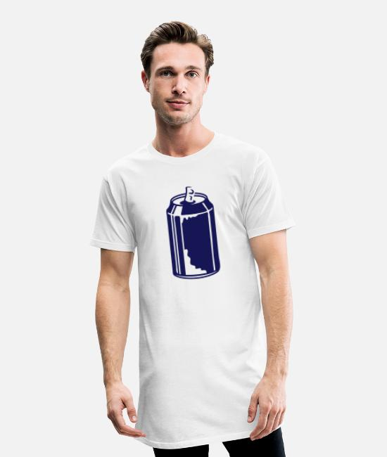 Lemonade T-Shirts - An open soda can - Men's Long T-Shirt white