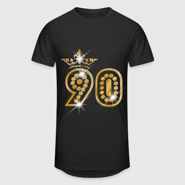 90 - Birthday - Queen - Gold - Burlesque - Camiseta urbana para hombre