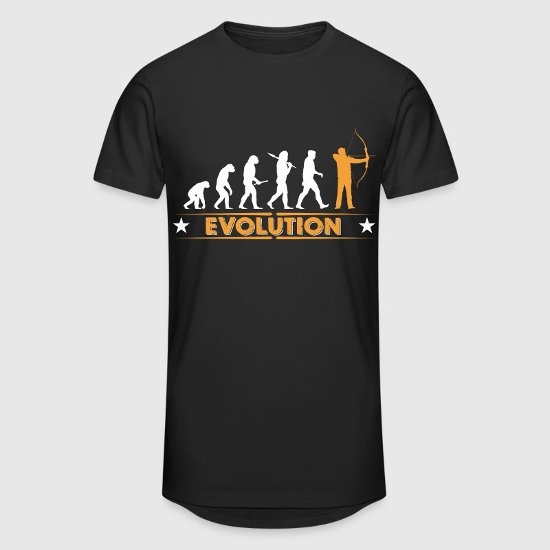 Archery evolution - orange/white - Men's Long Body Urban Tee